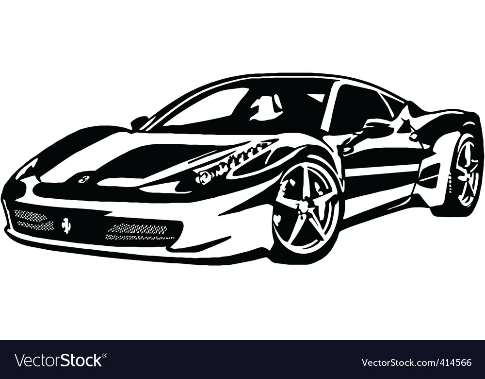 ferrari 458 italia royalty free vector image vectorstock