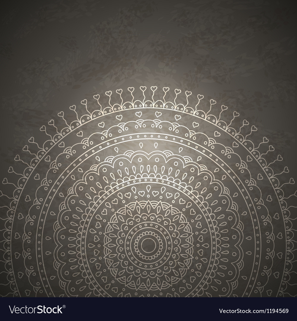 Vintage mandala ornament background vector image