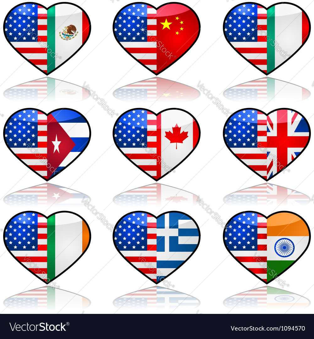USA divided love vector image