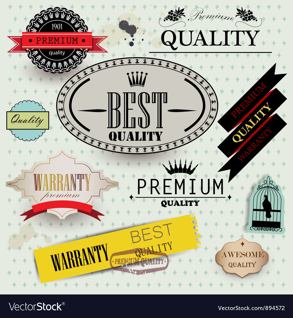 Set of Superior Quality vector image
