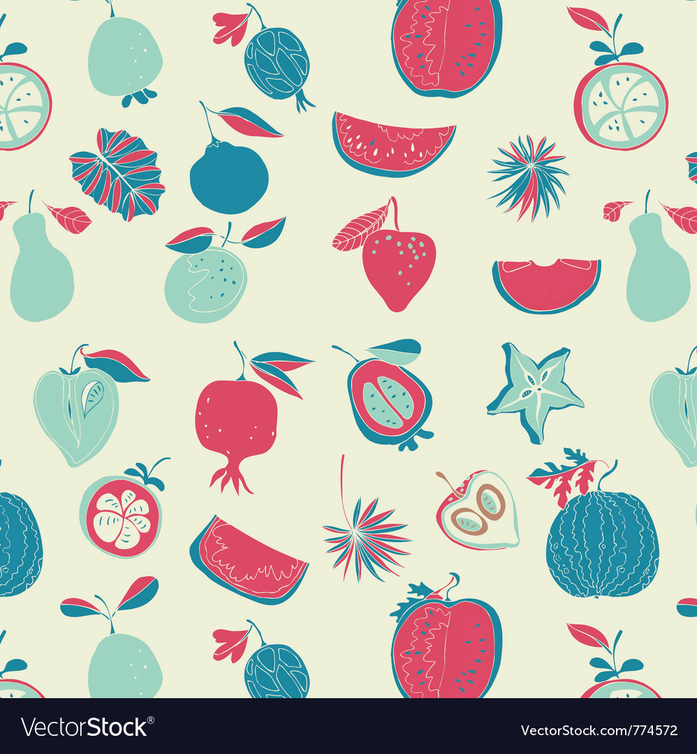 Vintage fruit wallpaper Royalty Free Vector Image