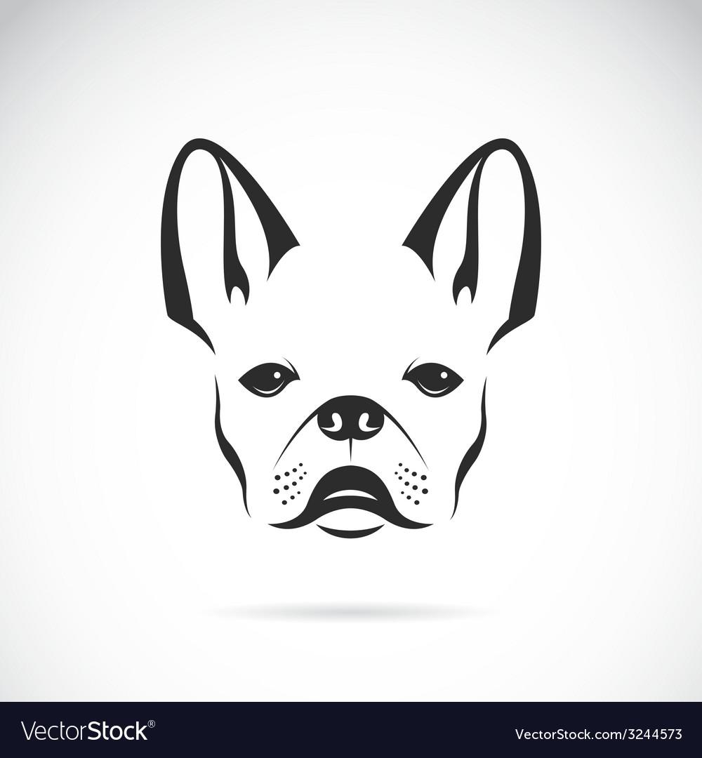 Image of an dog bulldog vector image