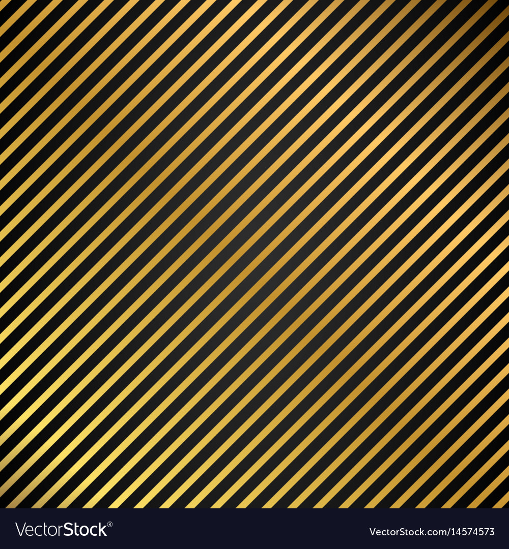 Oblique lines seamless gold metal texture striped vector image