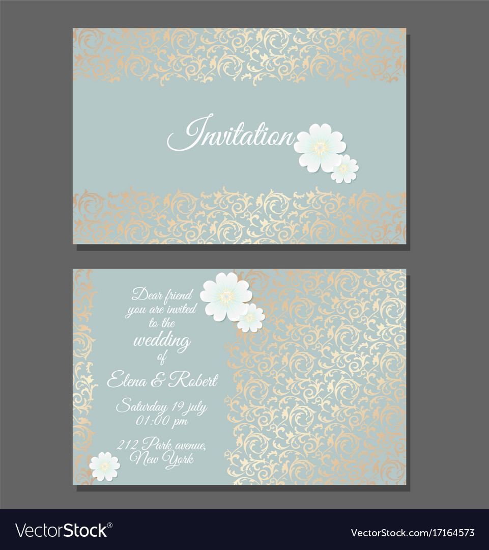 wedding invitation templates for muslim%0A friends wedding invitation templates friends wedding invitation templates  Vintage wedding invitation templates cover design vector image