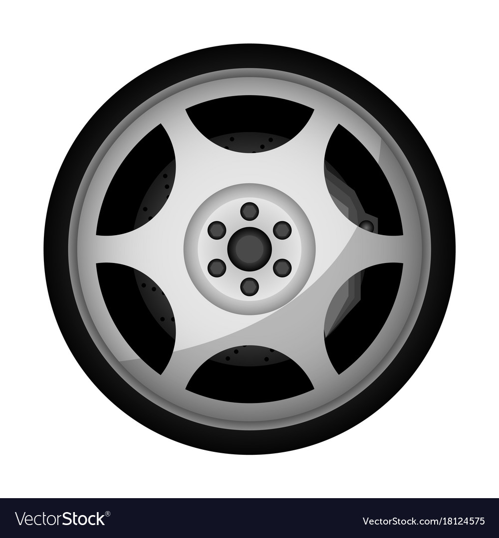Side view sports racing car wheel icon Royalty Free Vector for Racing Tire Vector  156eri