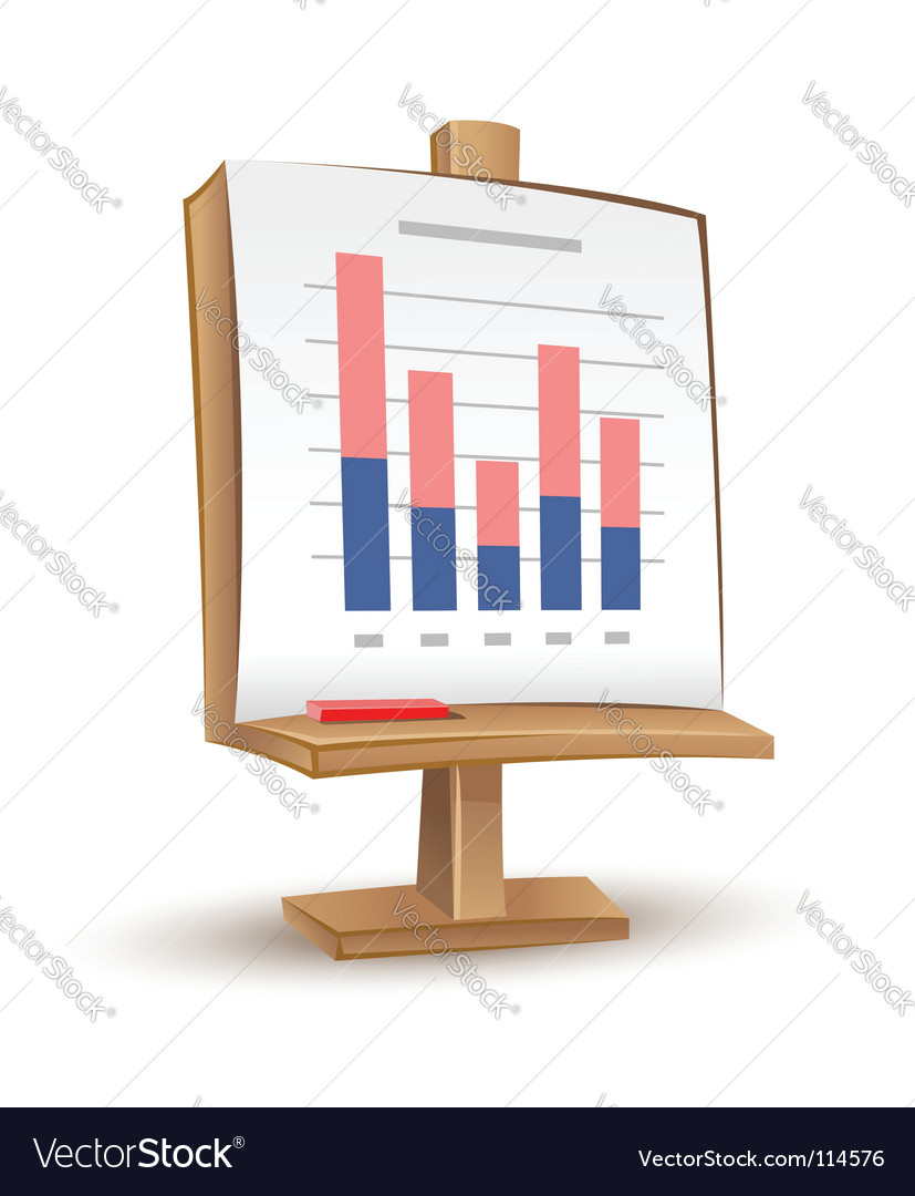 Business graph report vector image