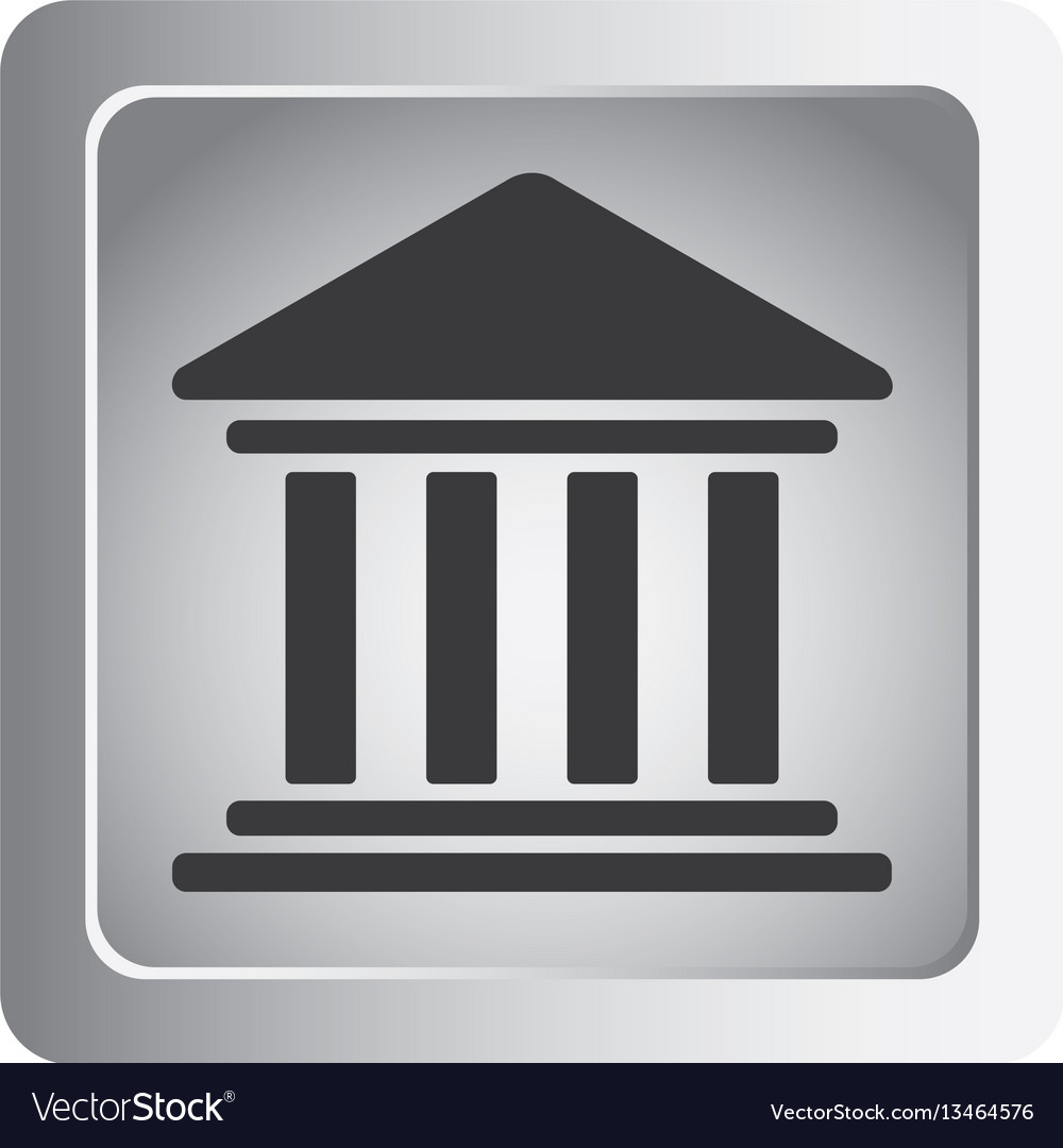 Emblem shape bank icon vector image