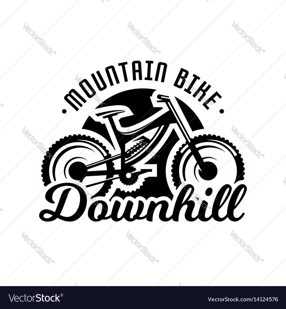 monochrome logo mountain bike downhill freeride vector image