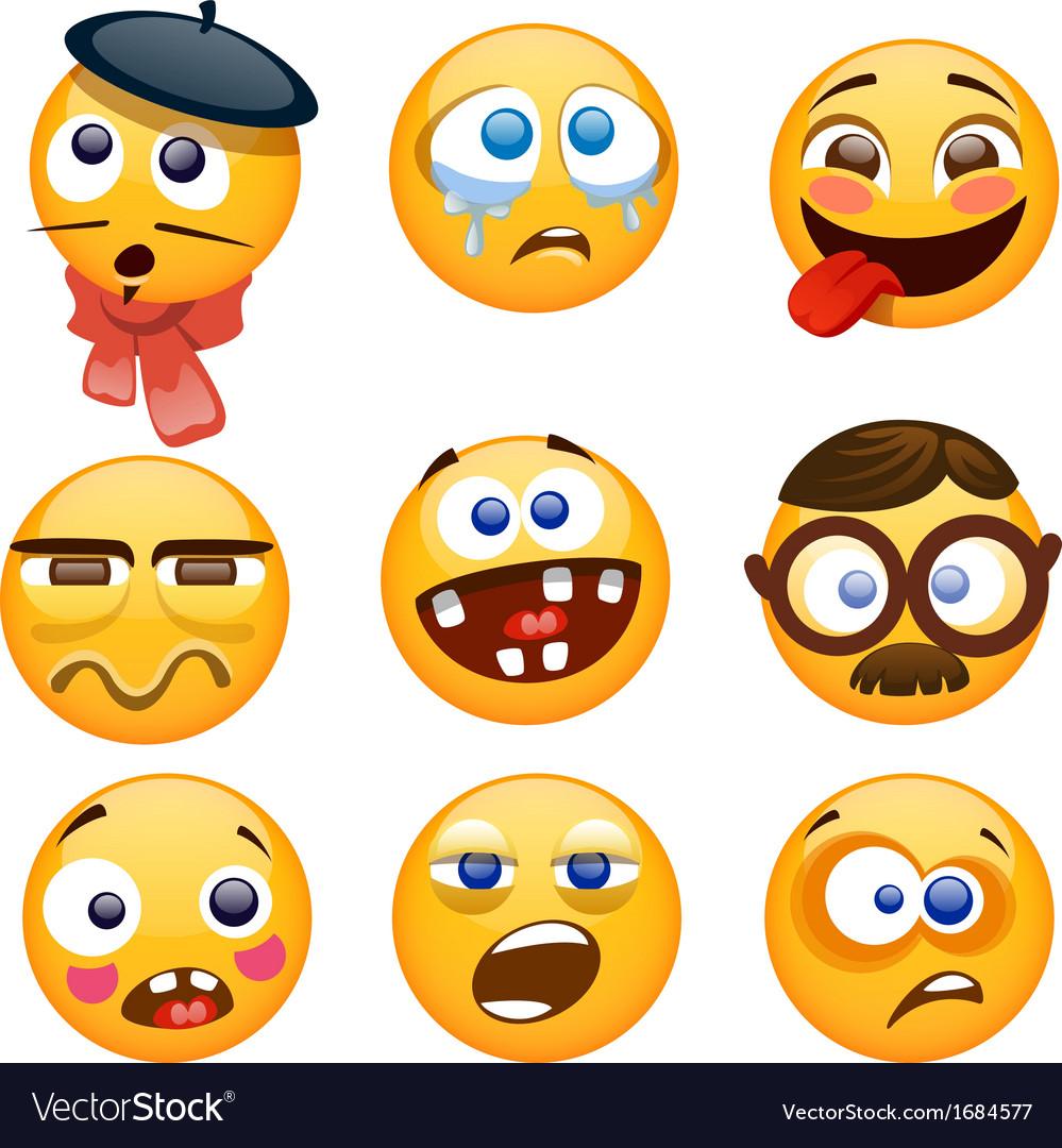 Cartoon smiles vector image