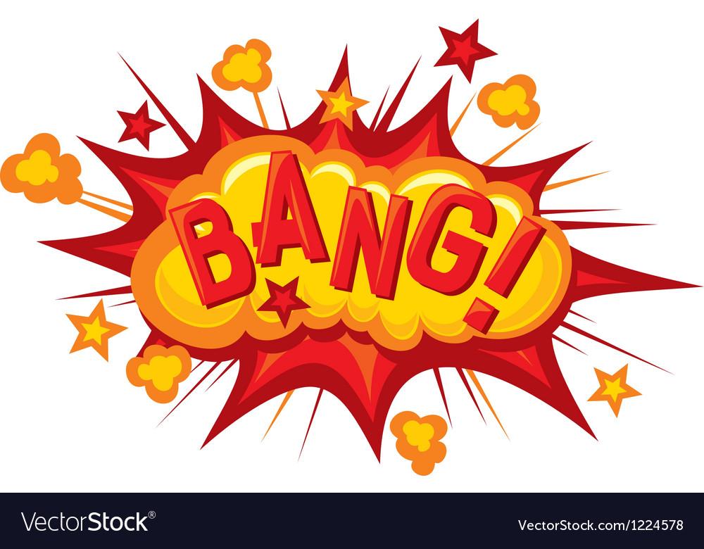 Bang vector image