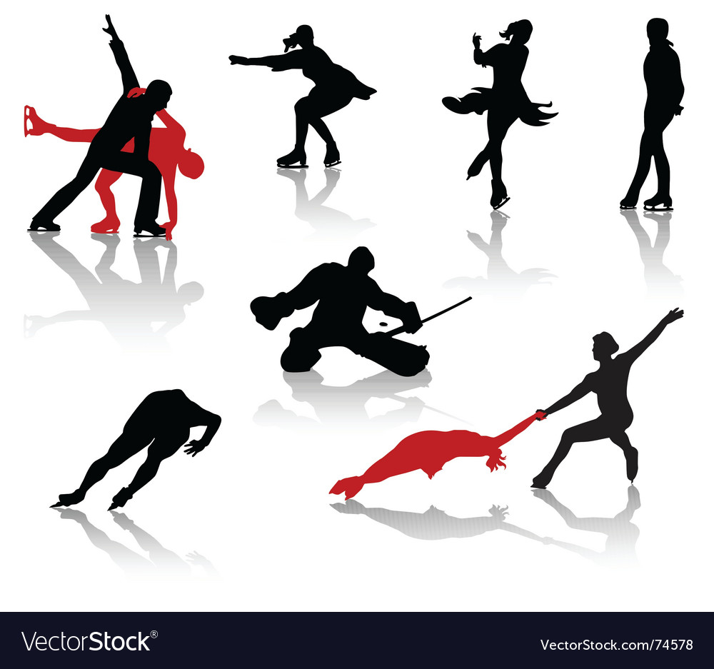 Skating vector image