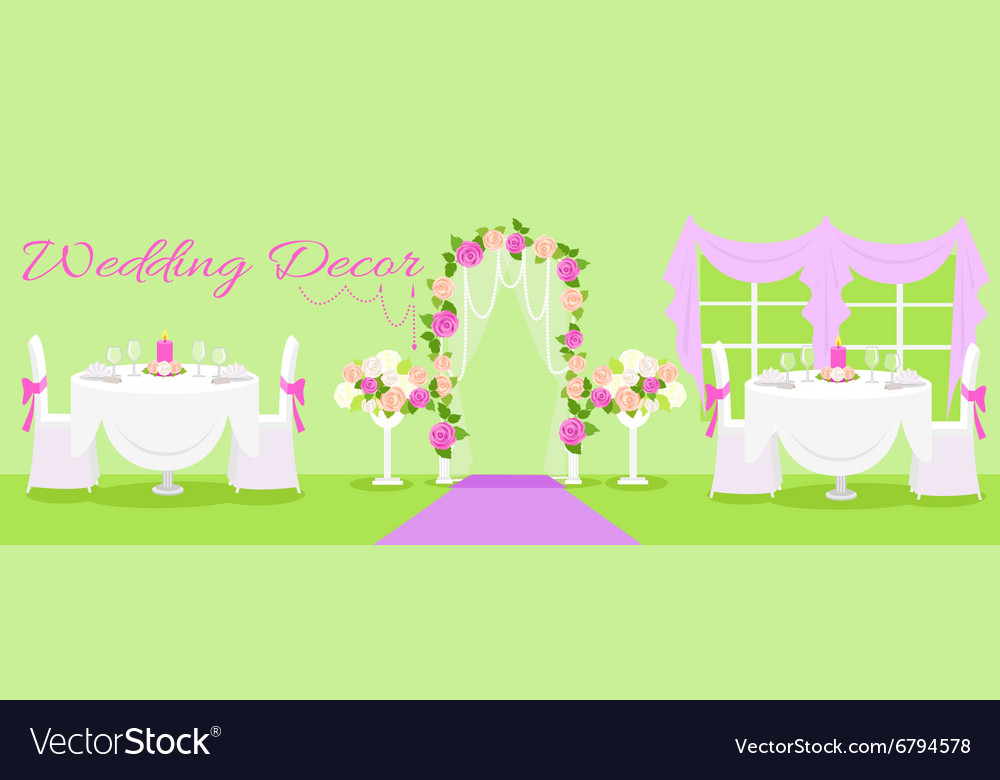 Wedding decor fashion interior royalty free vector image wedding decor fashion interior vector image junglespirit Image collections