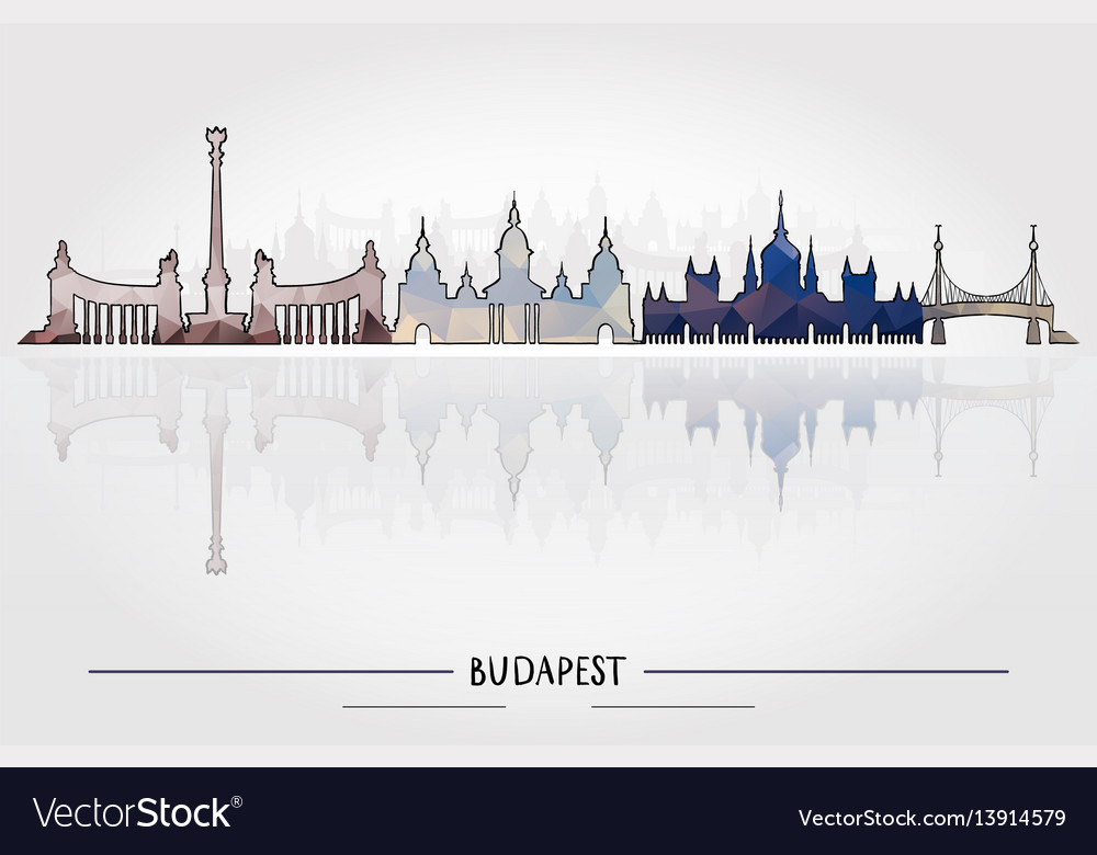 Budapest architecture vector image