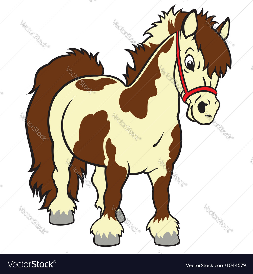 Cartoon pony vector image
