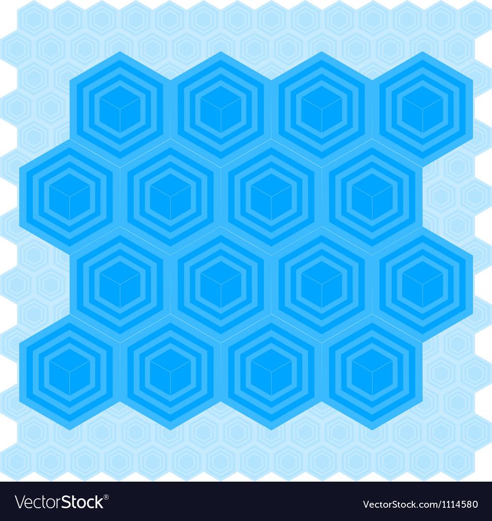 Cube Pattern Tile vector image