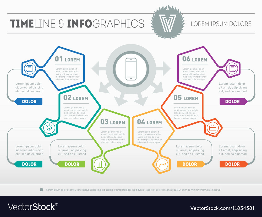 Infographic of technology or education process Web vector image