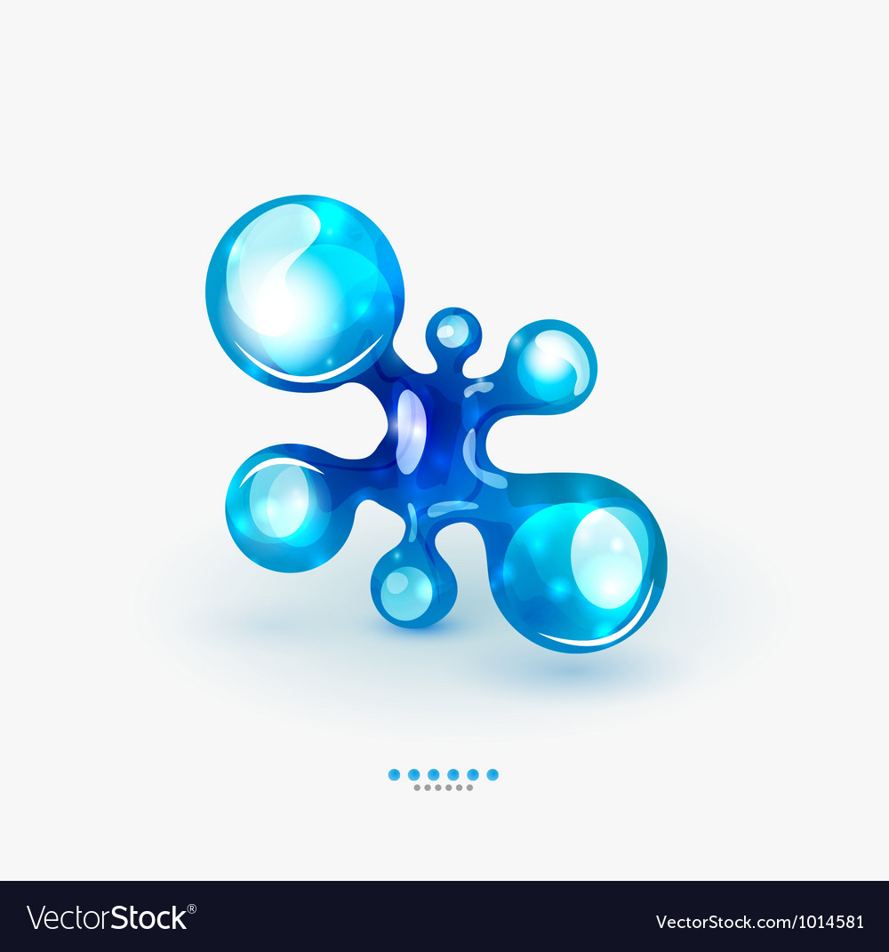 Technology liquid business emblem vector image