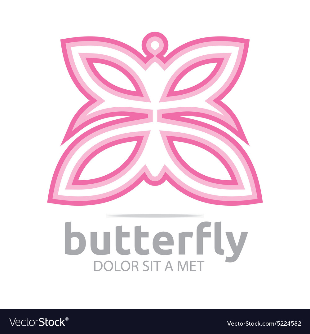 Butterfly leaf pink insect spring symbol vector image biocorpaavc Images
