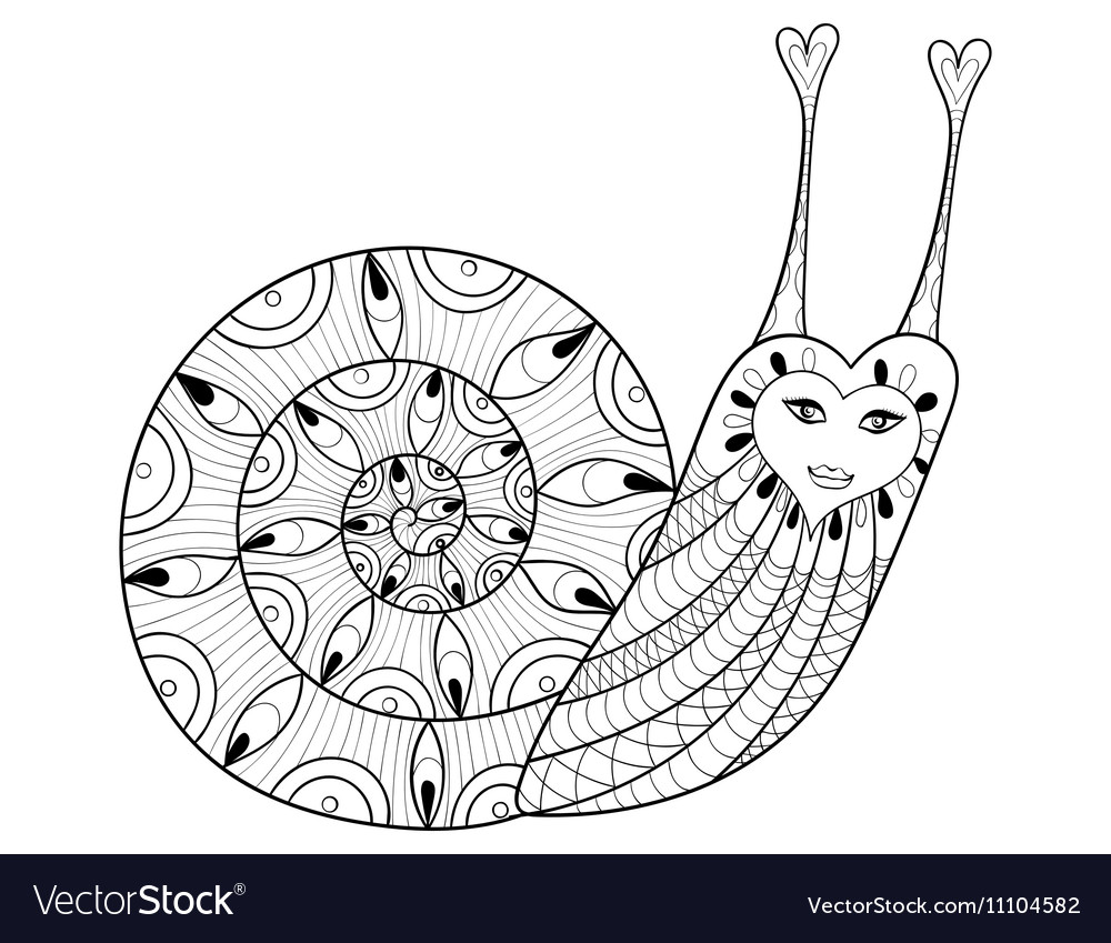 Attractive Realistic Snail Coloring Page Frieze - Resume Template ...