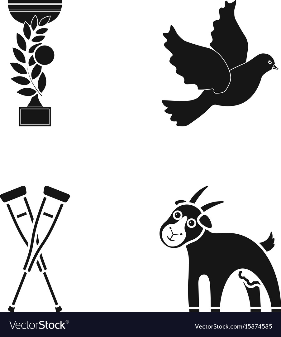 Cup pigeon and other web icon in black style vector image