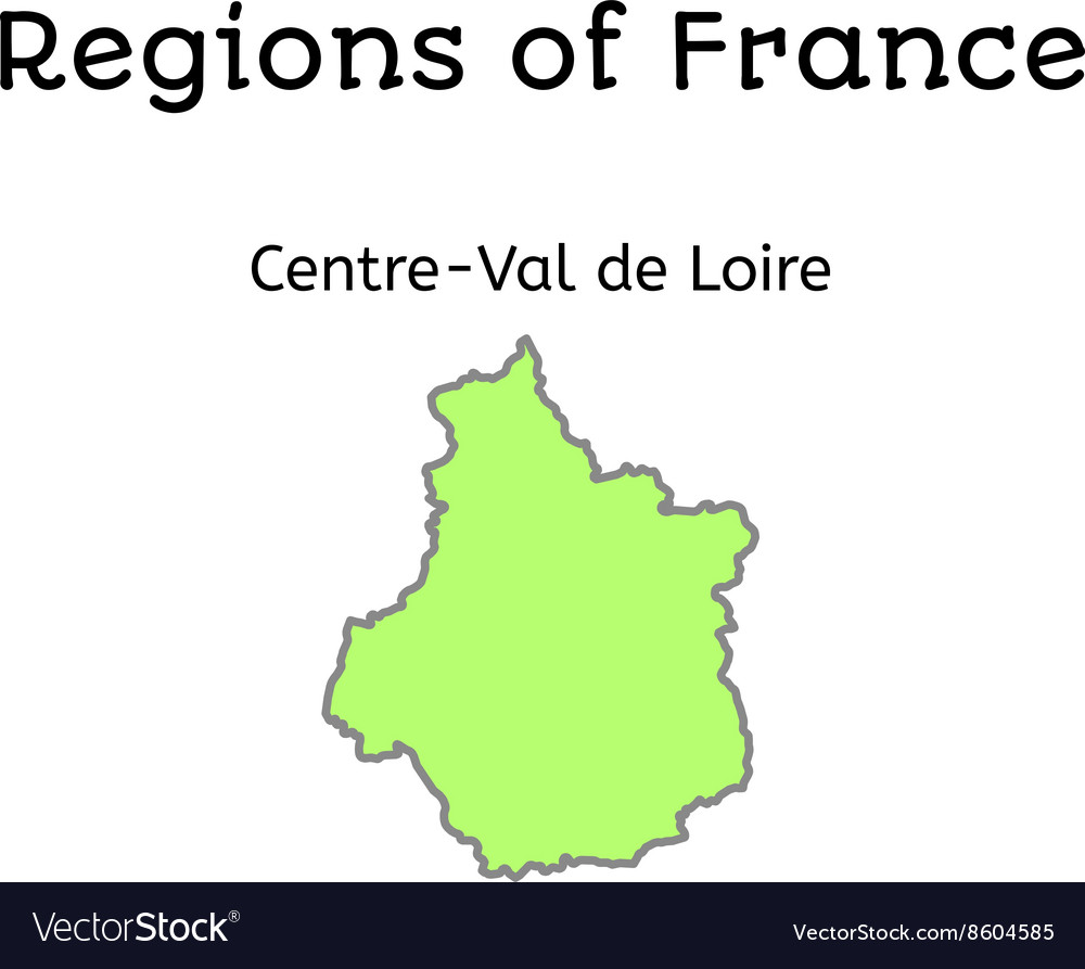France administrative map of CentreVal de Loire Vector Image