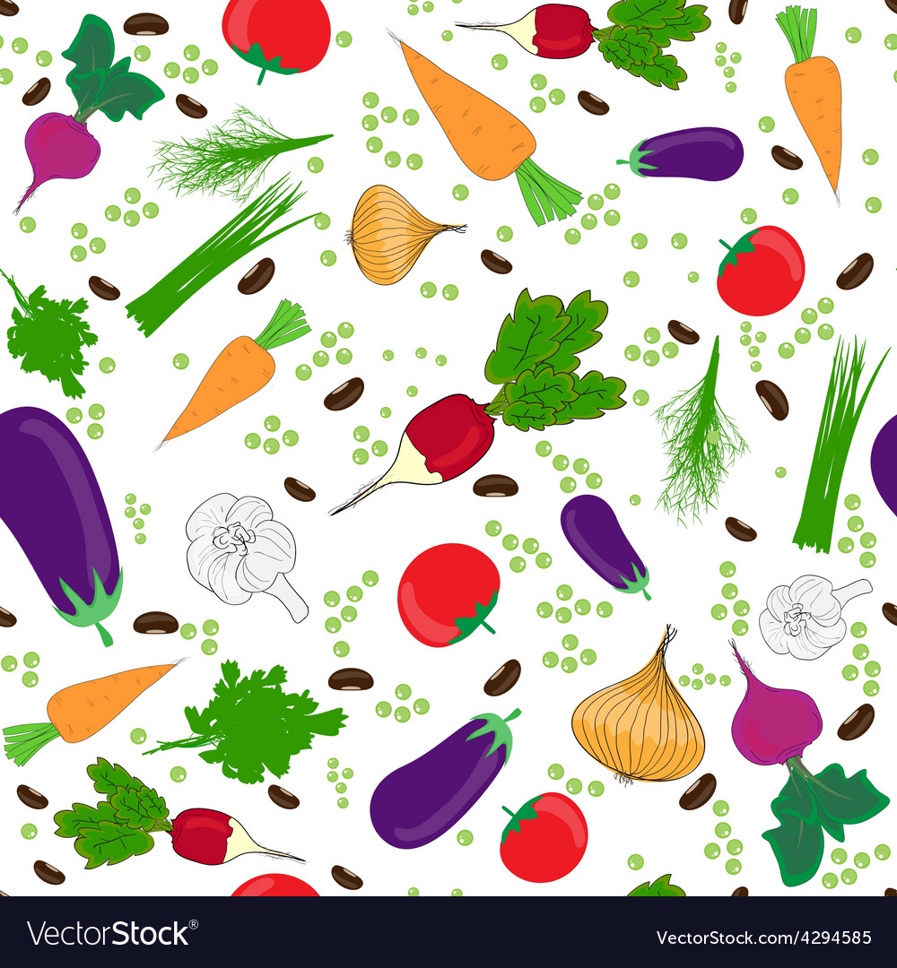 Seamless pattern on a white background vector image