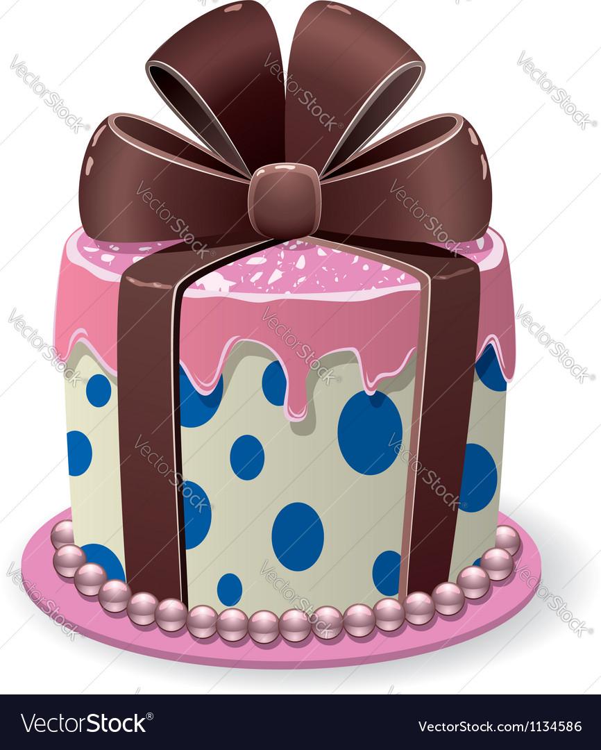 Chocolate cake vector image
