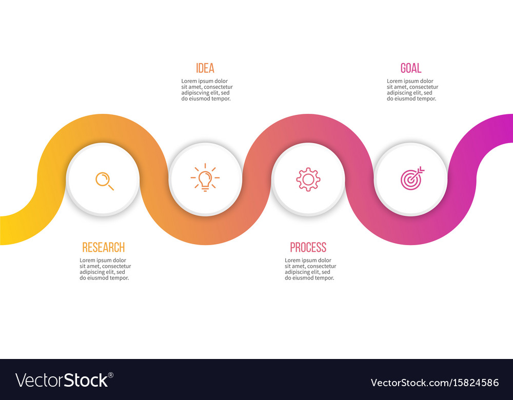 Business infographics presentation with 4 options vector image