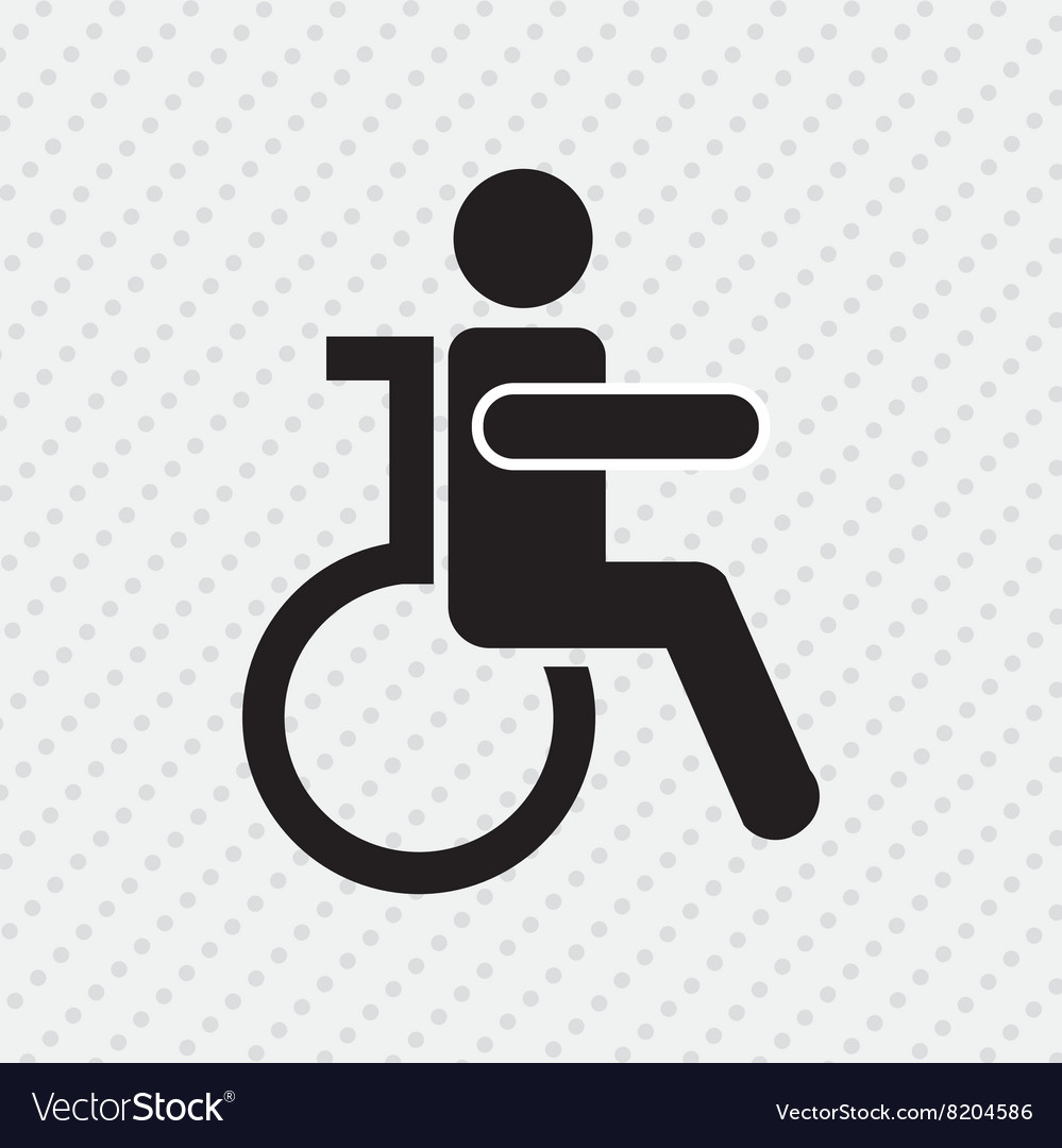 Disabled person design vector image