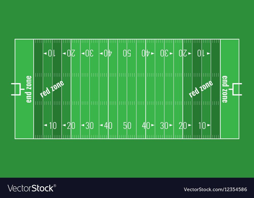 grass american football field. Grass Textured American Football Field Vector Image