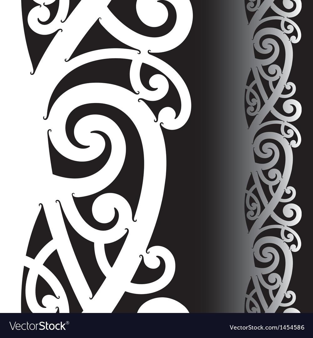Maori tattoo pattern vector image