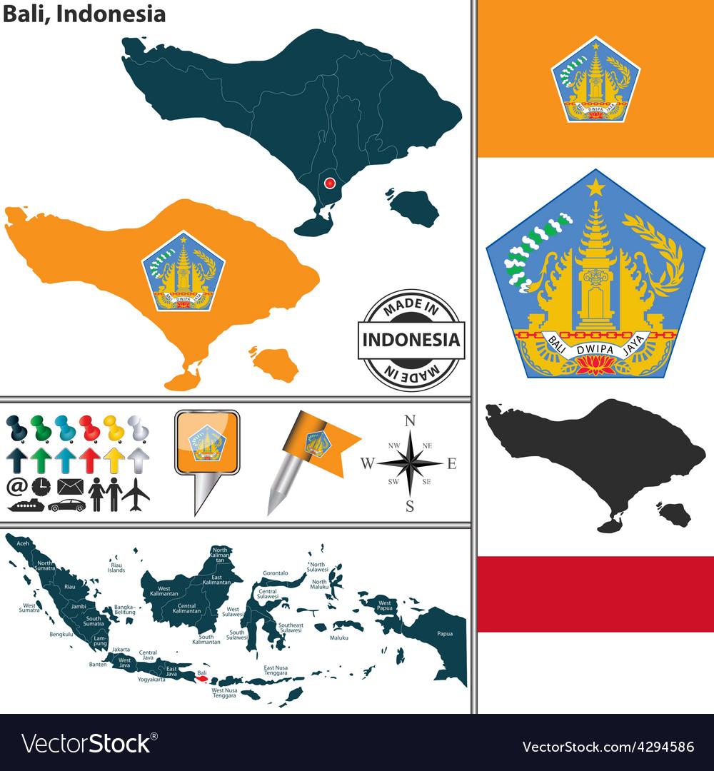 Map of Bali vector image