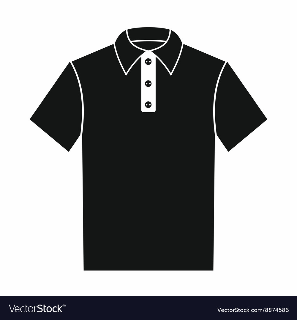Polo shirt icon simple style vector image