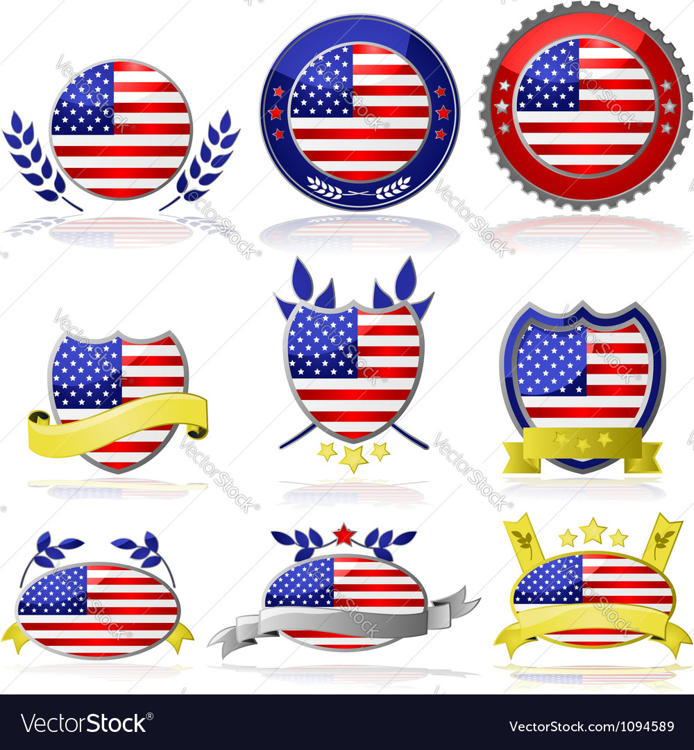 USA badges vector image
