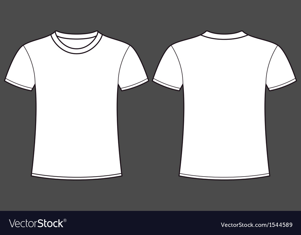 blank t shirt template front and back royalty free vector. Black Bedroom Furniture Sets. Home Design Ideas