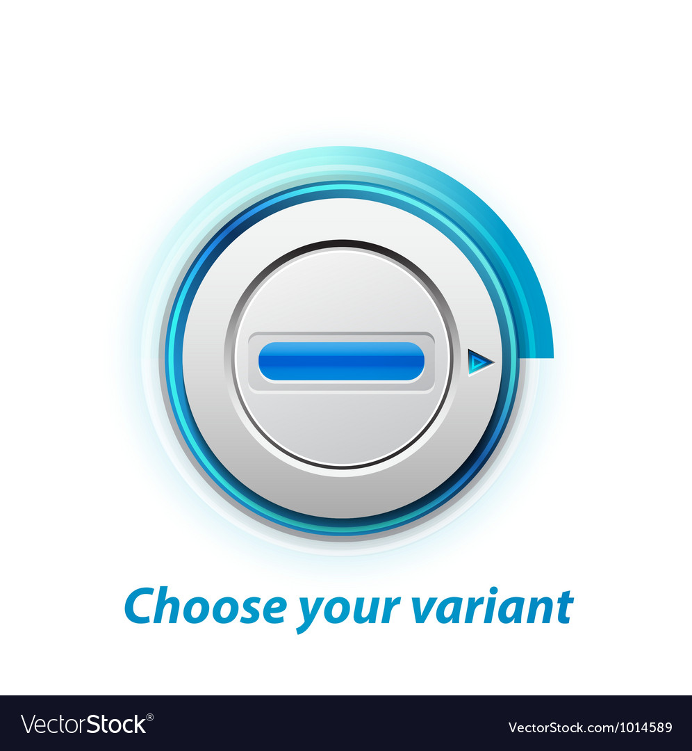 Knob switch vector image