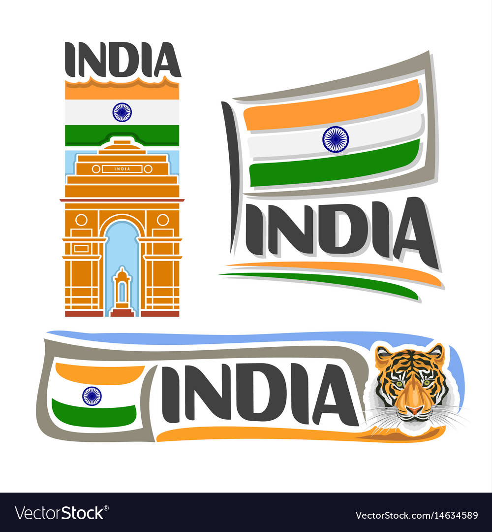 Logo for india vector image
