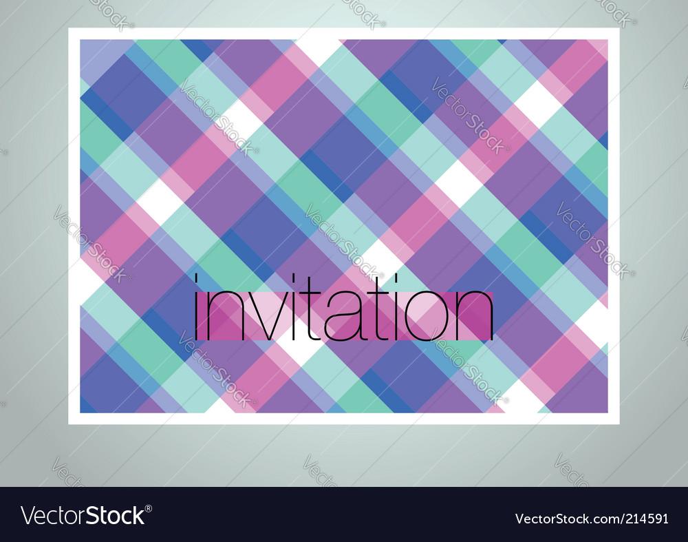 Invitation cover vector image