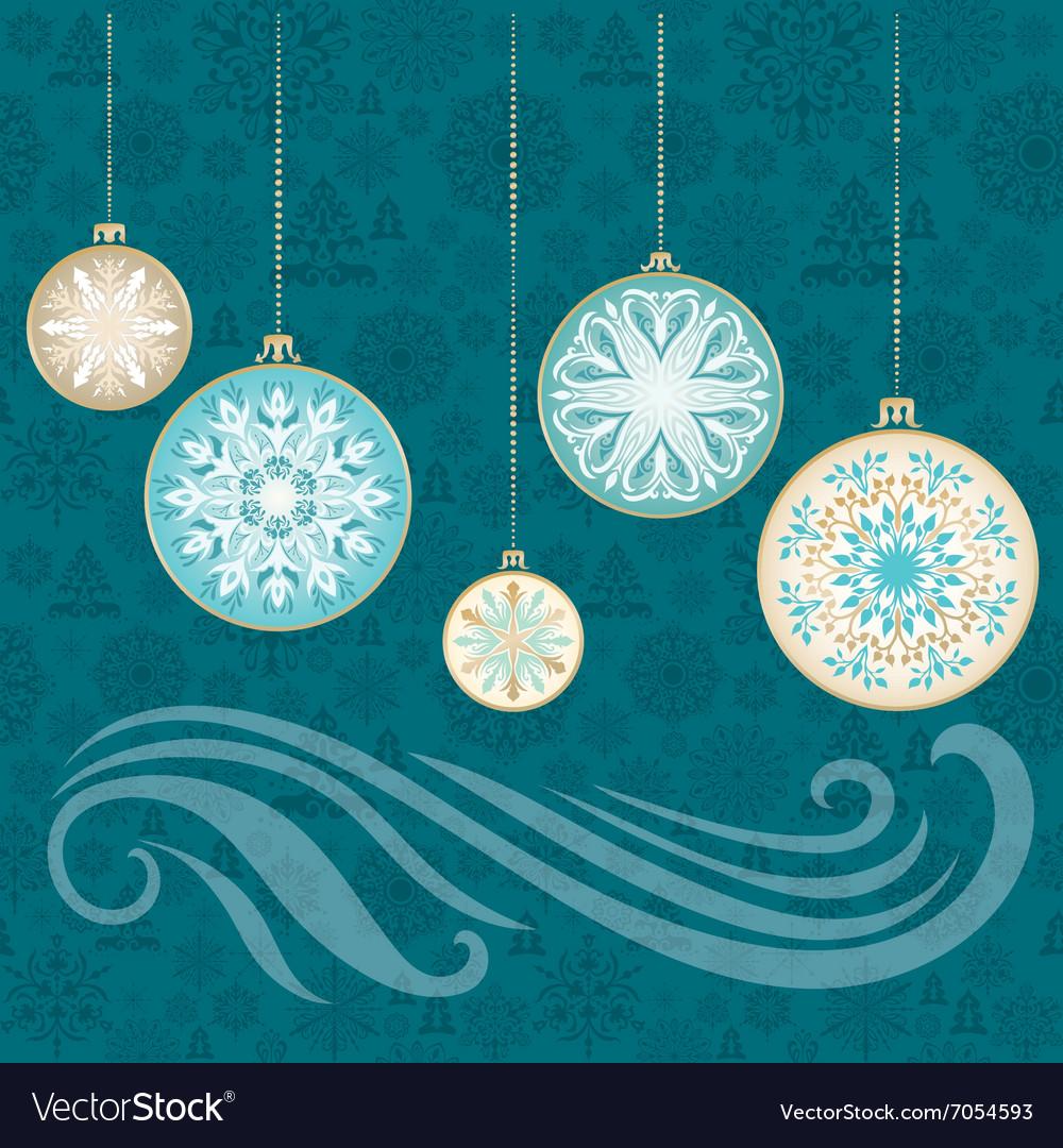 New Year Snowflake Card vector image
