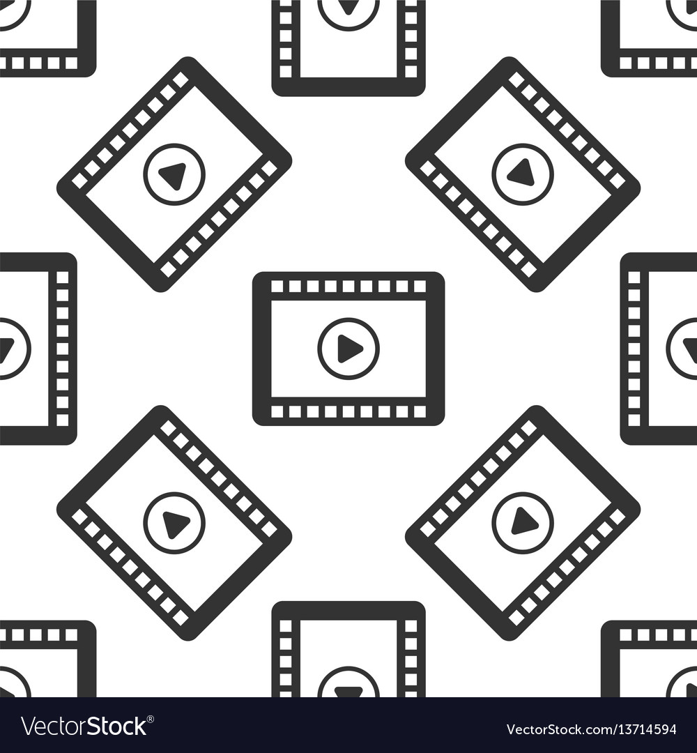 Video icon seamless pattern on white background vector image