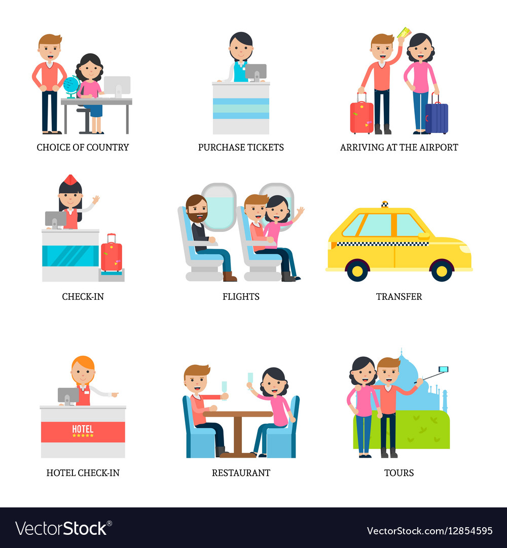 Family Vacation Infographic Concept vector image