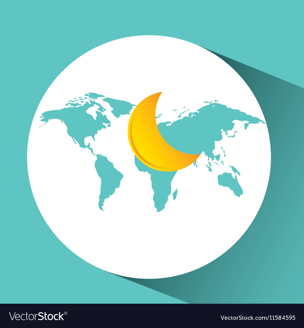 Weather concept forecast half moon icon design vector image
