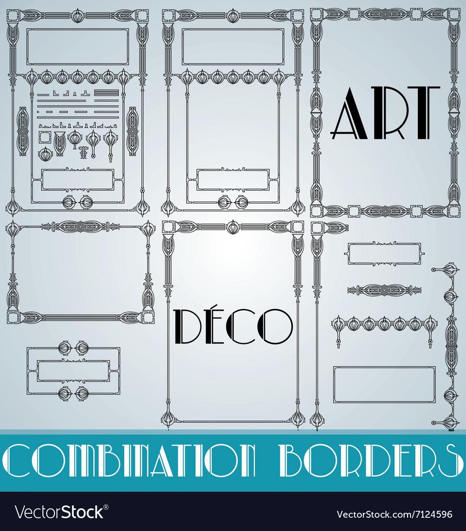 Art Deco Combination Borders vector image