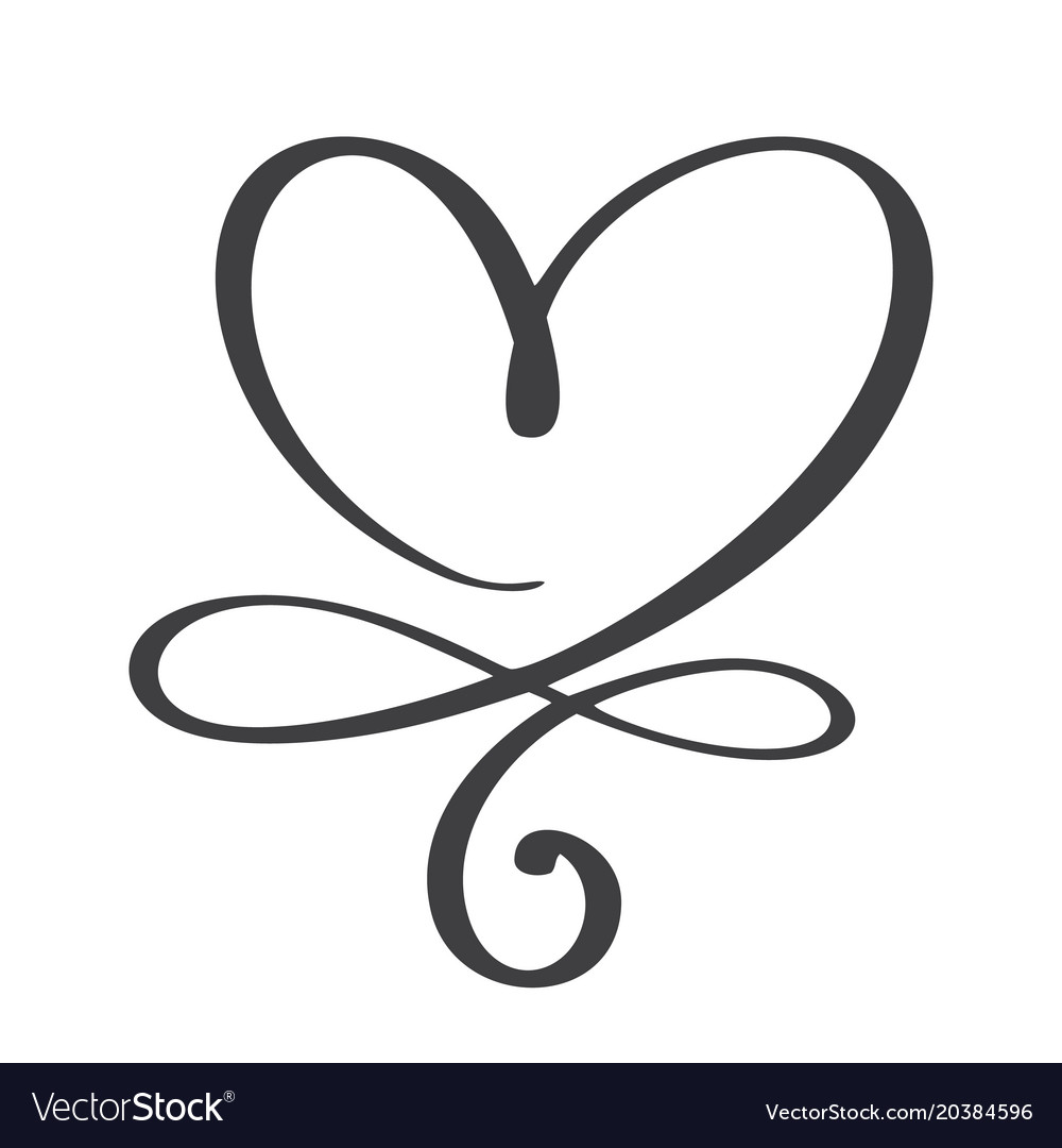 Heart love sign forever infinity romantic symbol vector image buycottarizona Gallery