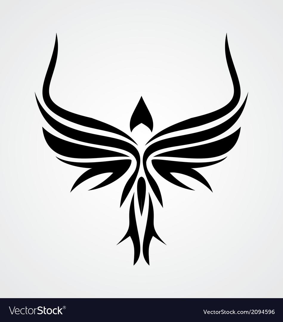Tribal Bird vector image
