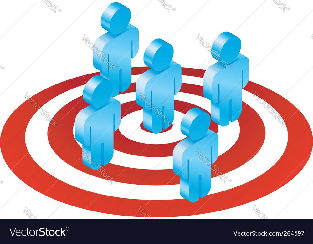 Men and target illustration vector image