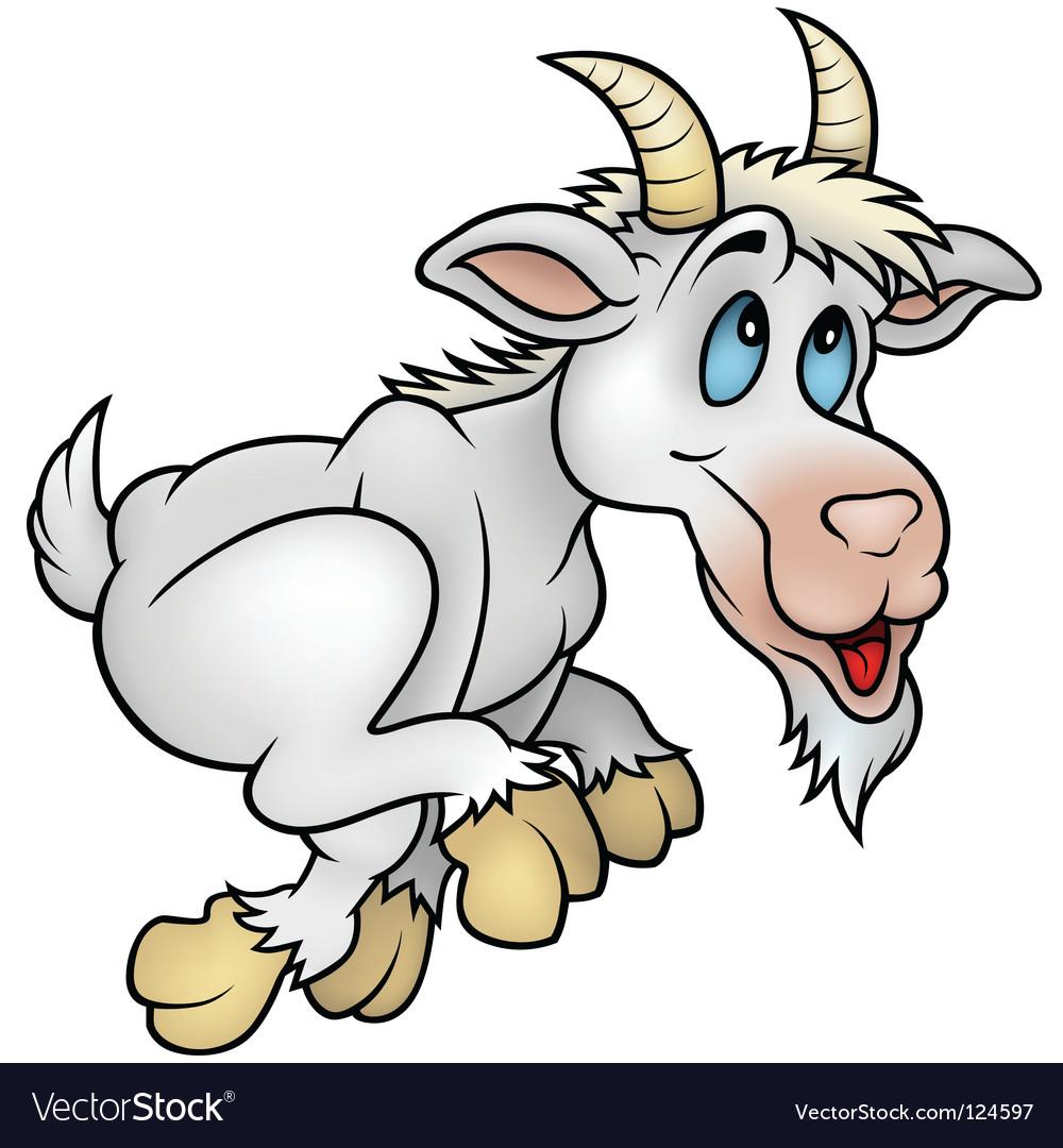 Running goat vector image