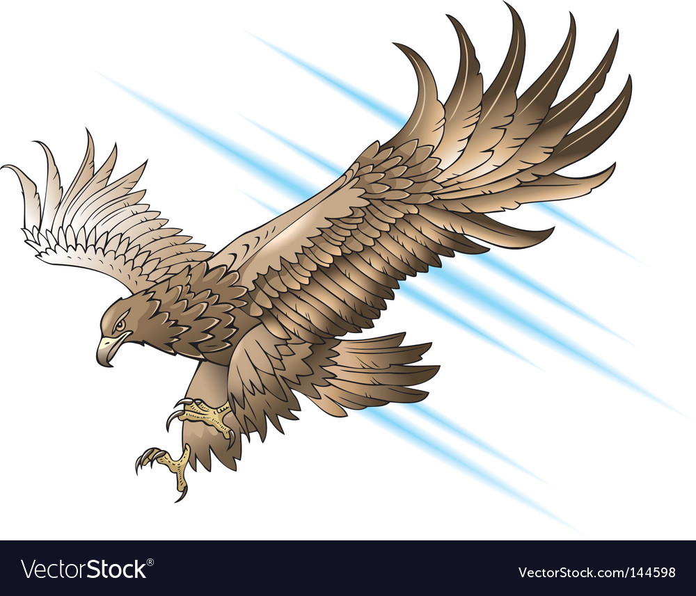 Attacking eagle vector image