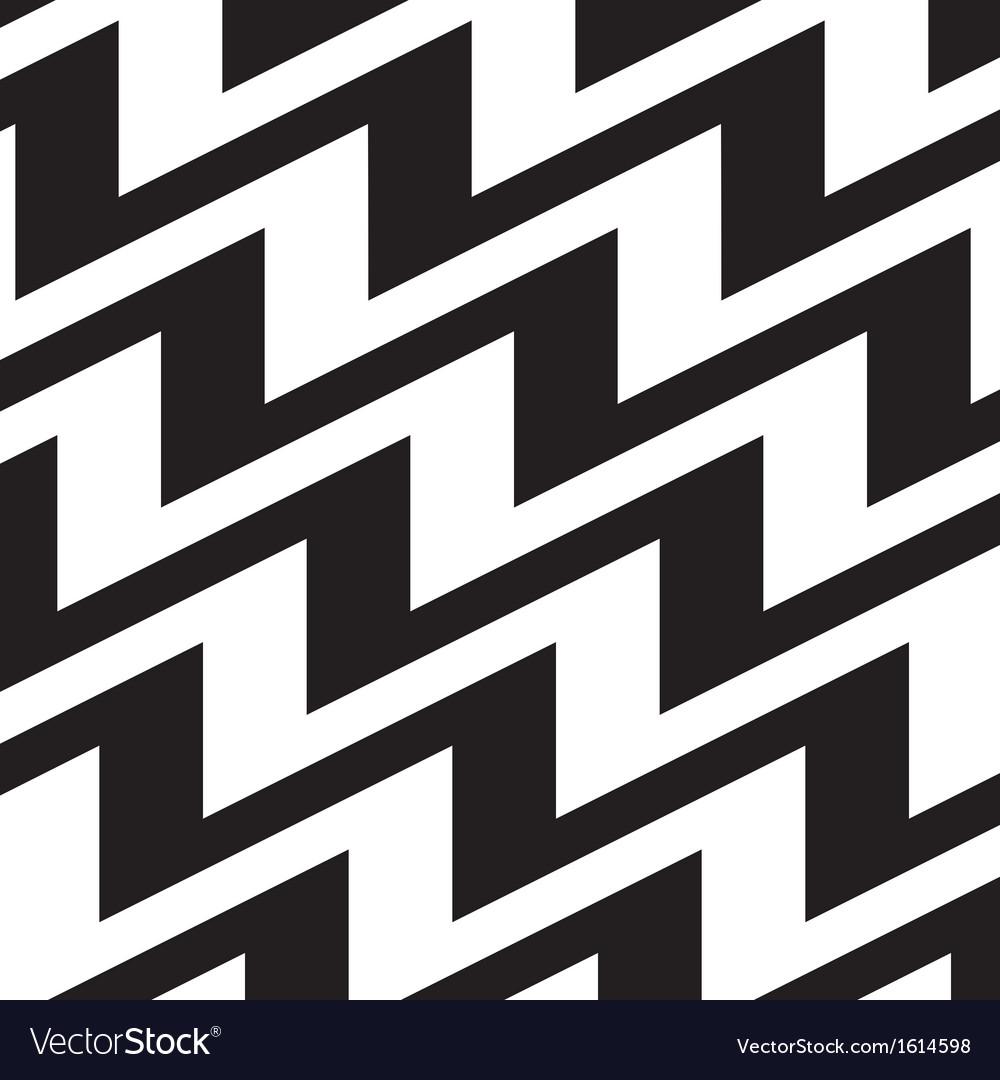 Chevron background black white vector image