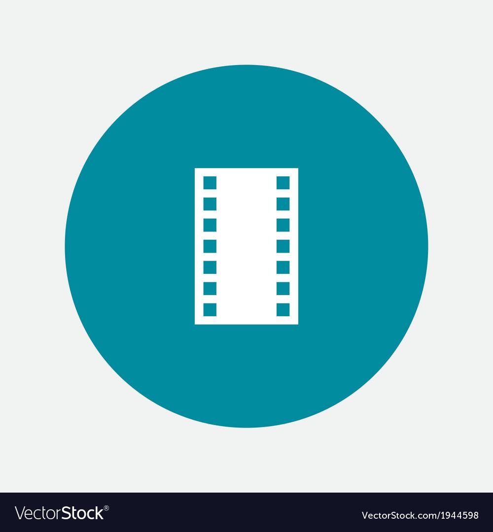 Photo film icon vector image